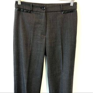 Taifun | Elegant gray pants with faux leather